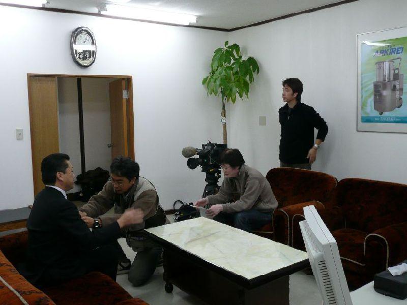 びわこ放送「滋賀経済NOW」収録準備風景